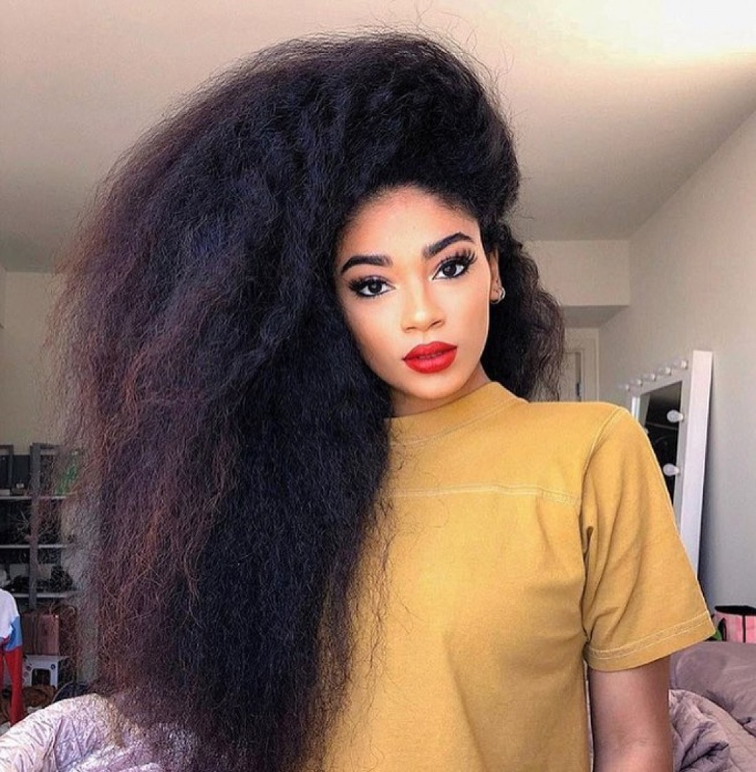 Image result for natural vs relaxed hair